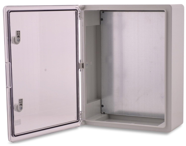 BOXEXPERT Boî tier d'armoire murale 400x500x175mm IP 65 gris transparent RAL7035 Boî tier de distribution d'armoire é lectrique