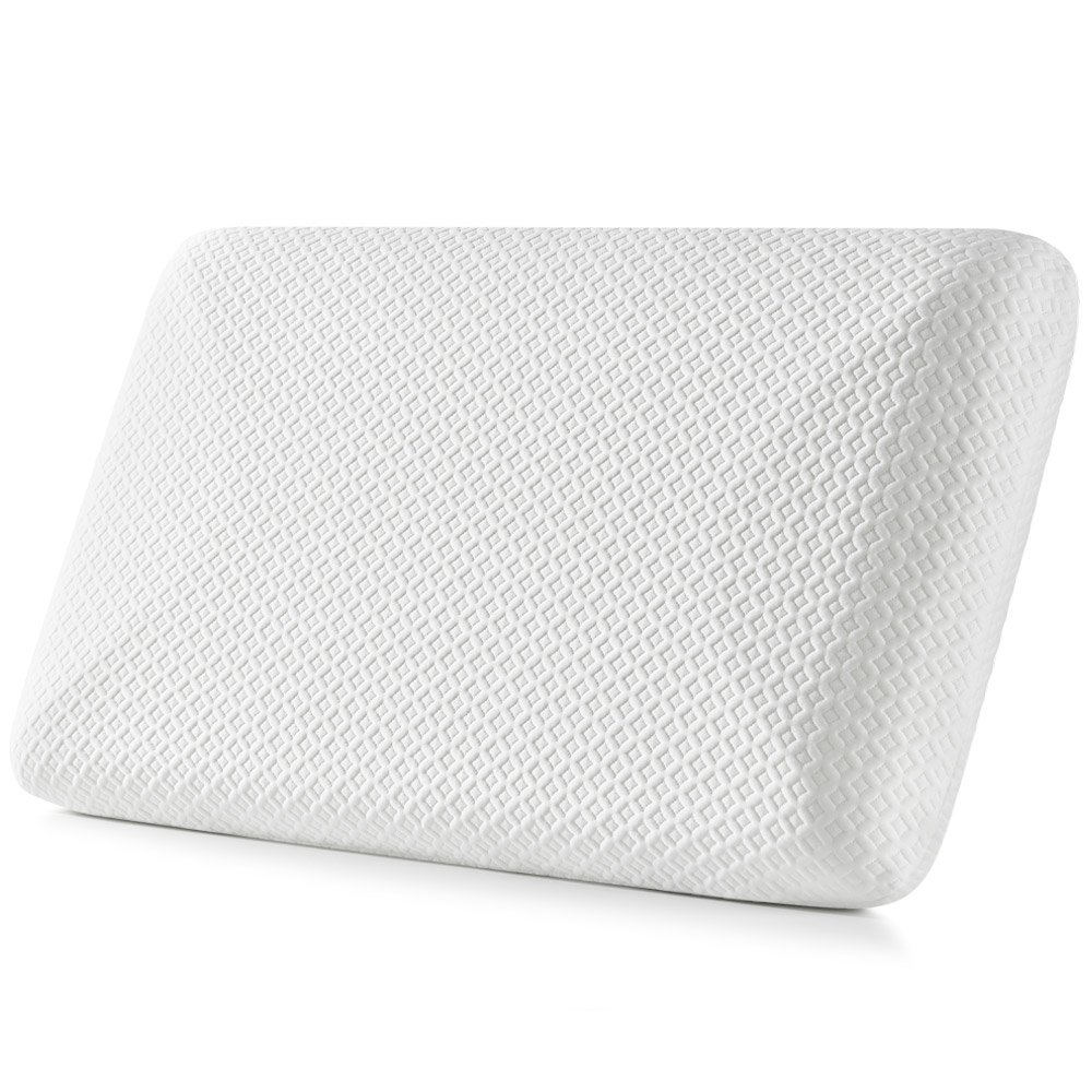 Jiaao Memory Foam Pillow for Neck Pain Orthopedic Contoured Support Pillow for Sleeping, Best Bed Pillow for Side & Back Sleepers, Including Removable Cover with Invisible Zipper
