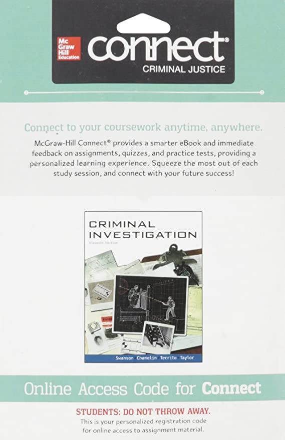 connect access card for criminal investigation charles swanson rh amazon co uk Criminal Investigation Book Criminal Investigation Clip Art