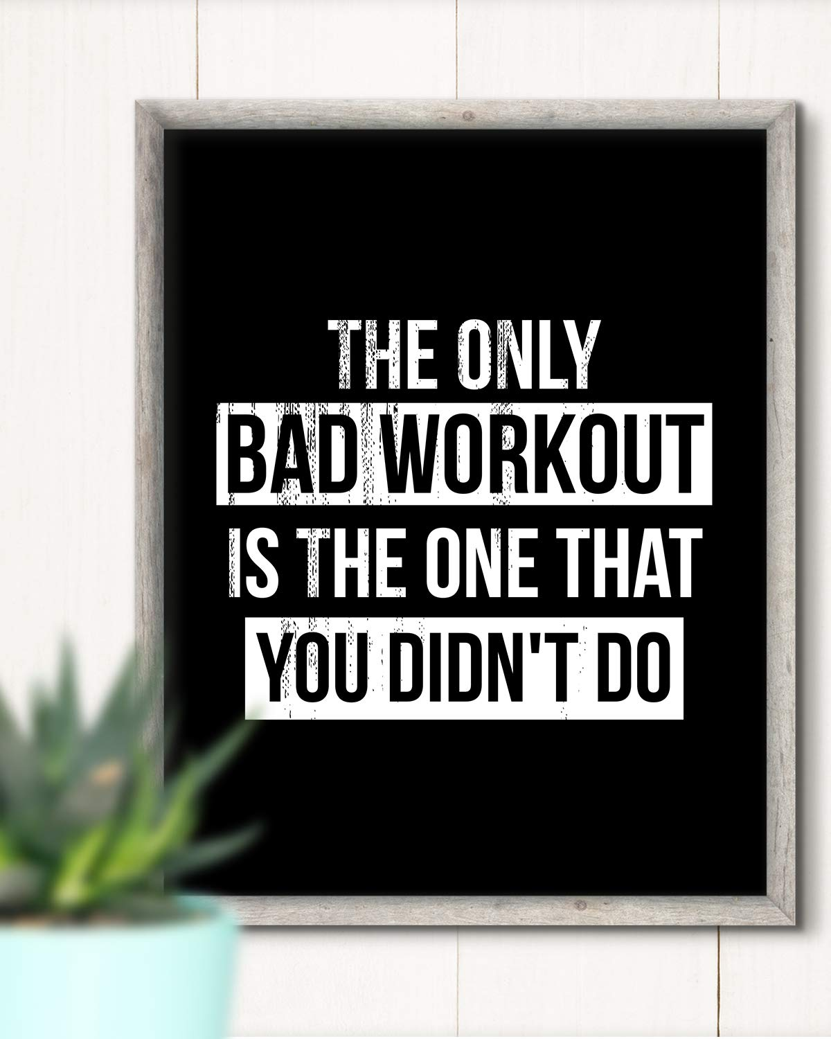 8x10 unframed print great for gym workout or exercise room Wall Decor Art Print The Only Bad Workout Is The One That You Didnt Do