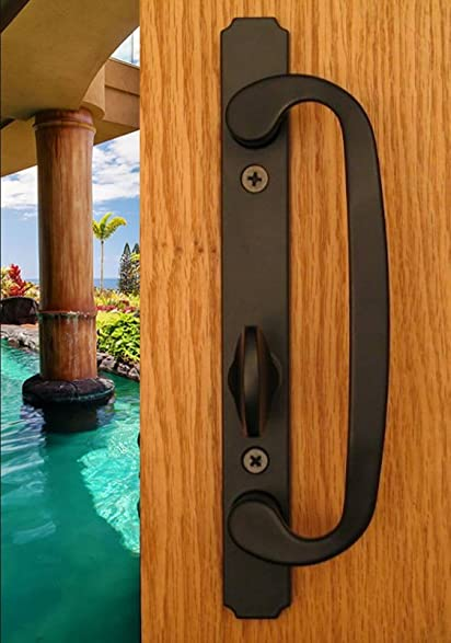 Embassy Solid Brass Active Trim Handle Set Non Keyed For Sliding