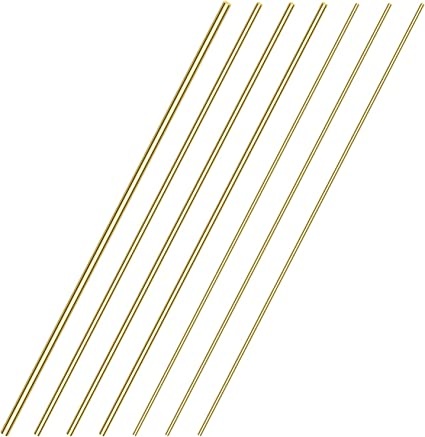 Brass Solid Round Rod Lathe Bar Stock 1 4 Inch In Diameter 14 Length 2 Pcs