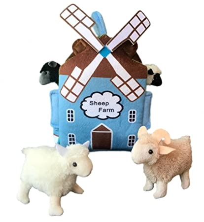 Amazon Com Adore 12 Windmill Sheep Farm House Stuffed Animal Plush