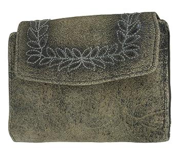 35ff604dfe63f Domelo Damen Geldbeutel Geldbörse Brieftasche Portmonnaie Ledergeldbeutel Trachten  Style aus echtem Leder