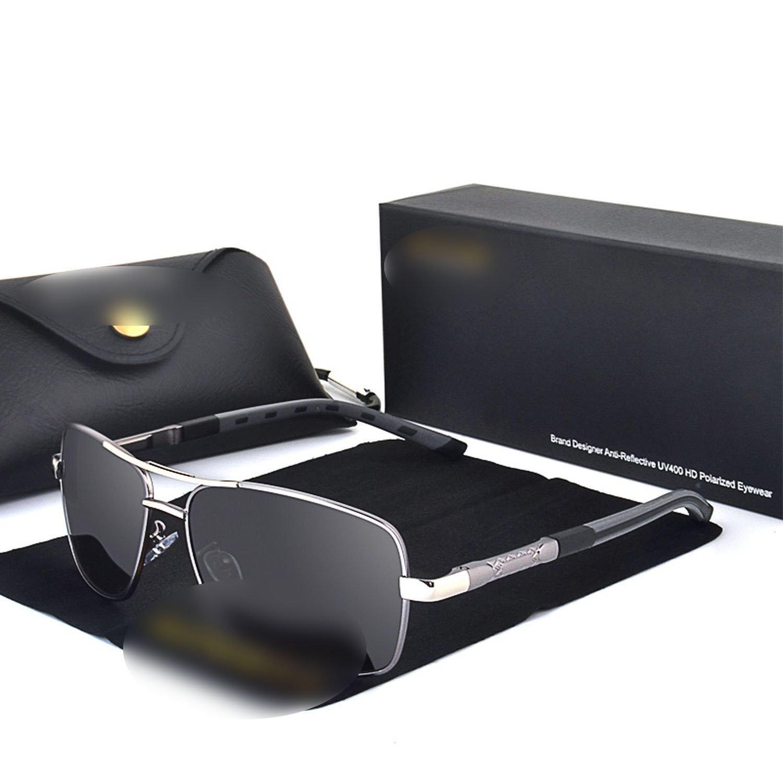 Amazon.com: Retro Rectangle Polarized Sunglasses Mirror Sun ...
