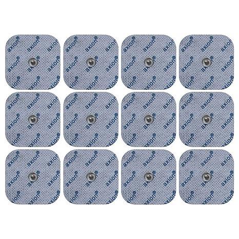12 Electrodos compatibles VITALCONTROL BEURER - parches TENS EMS tamaño universal - electroestimuladores con conexión de