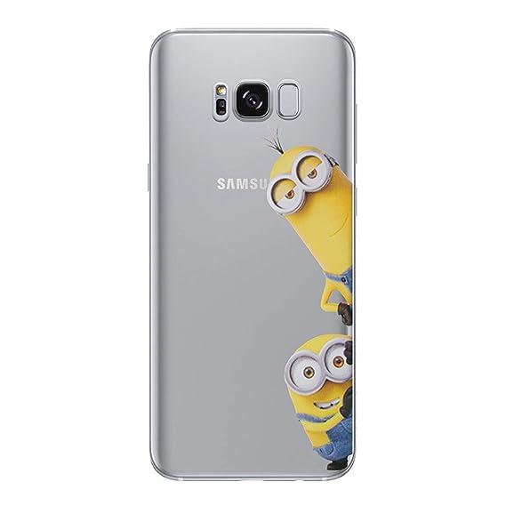 online store 00996 2fdff Amazon.com: Galaxy S6 Edge Minions Silicone Phone Case/Gel Cover for ...