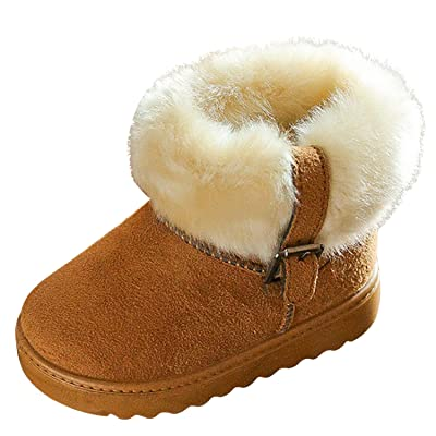 Evelin LEE Baby Boys Girls Winter Warm Snow Boots Fur Shoes (Toddler/little kids 2-6Y)