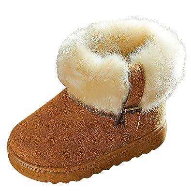 423afdba9800e Chic-Chic Enfant Bottes de Neige Hiver Fille Bébé Bottes d hiver Fourrure  Chaudes