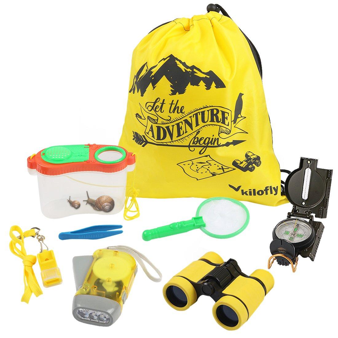 kilofly 8-in-1 Kids Nature Explorer Kit Fun Backyard Bug Catching Adventure Set