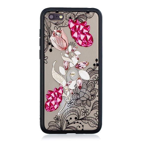 Amazon com: Huawei Y5 2018 Case,Y5 Prime 2018 Clear Case,AIIYG DS