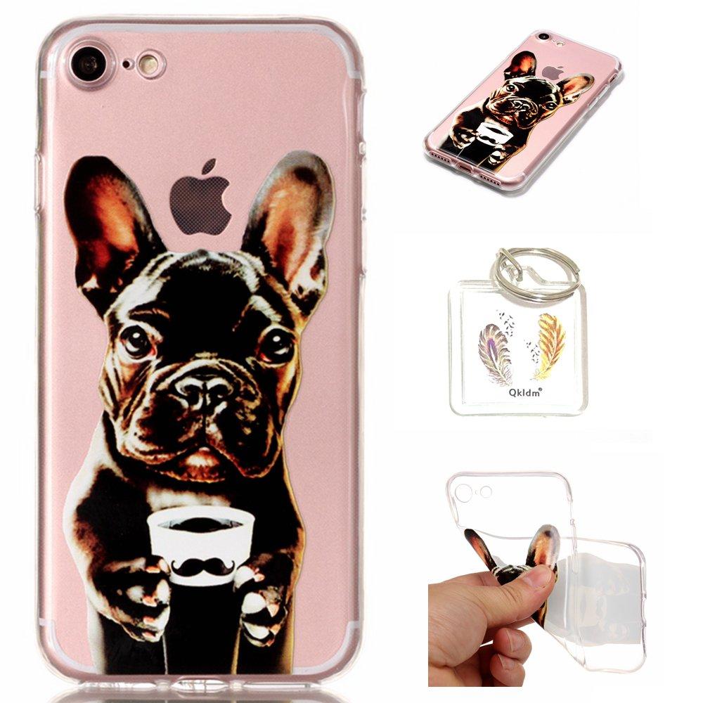 Hülle iPhone 8/7 (4,7') TPU schutz silikonhülle, niedlichen cartoon bild transparent handy Hülle für iPhone 8/7 (4,7') + schlüsselanhänger (*/142) (8)