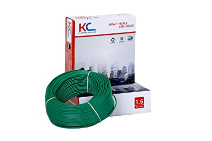 KC Cab 1.5 sq mm wire 90 meter coil (Green)