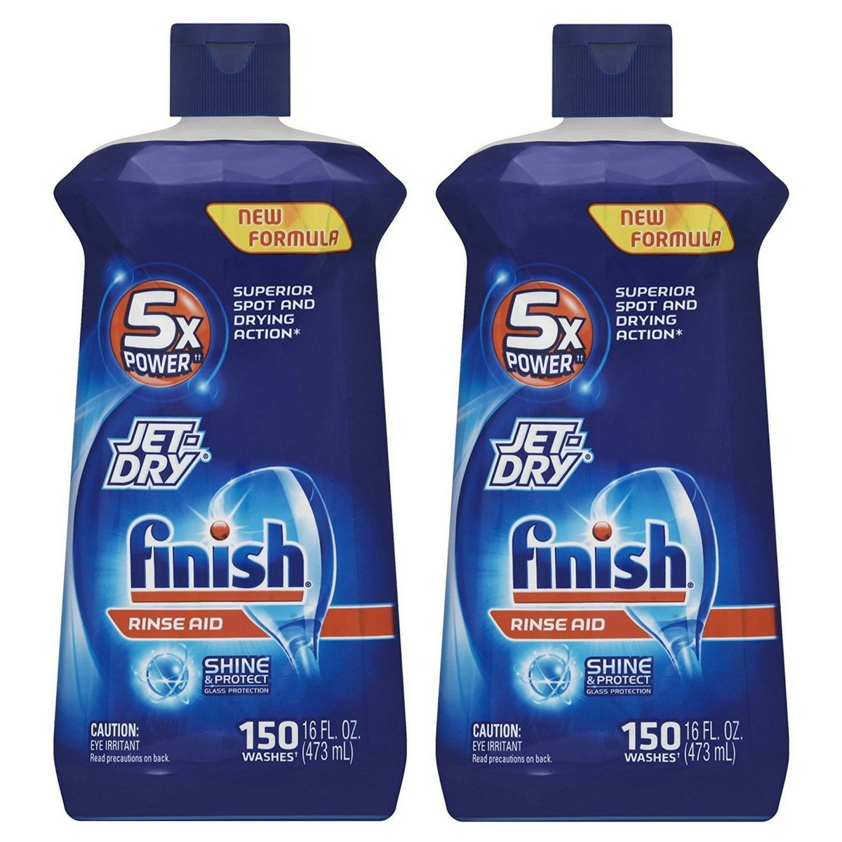 Finish Large Jet-Dry Rinse Aid, 16 oz (Pack of 2)
