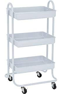 3 tier cart with wheels metal 3tier metal utility service rolling handle storage cart with wheels in white amazoncom tier metal mail rack office products