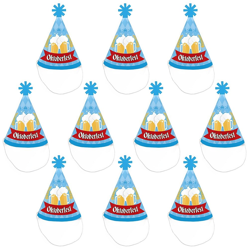 Mini Cone German Beer Festival Hats Small Little Party Hats Oktoberfest Set of 10