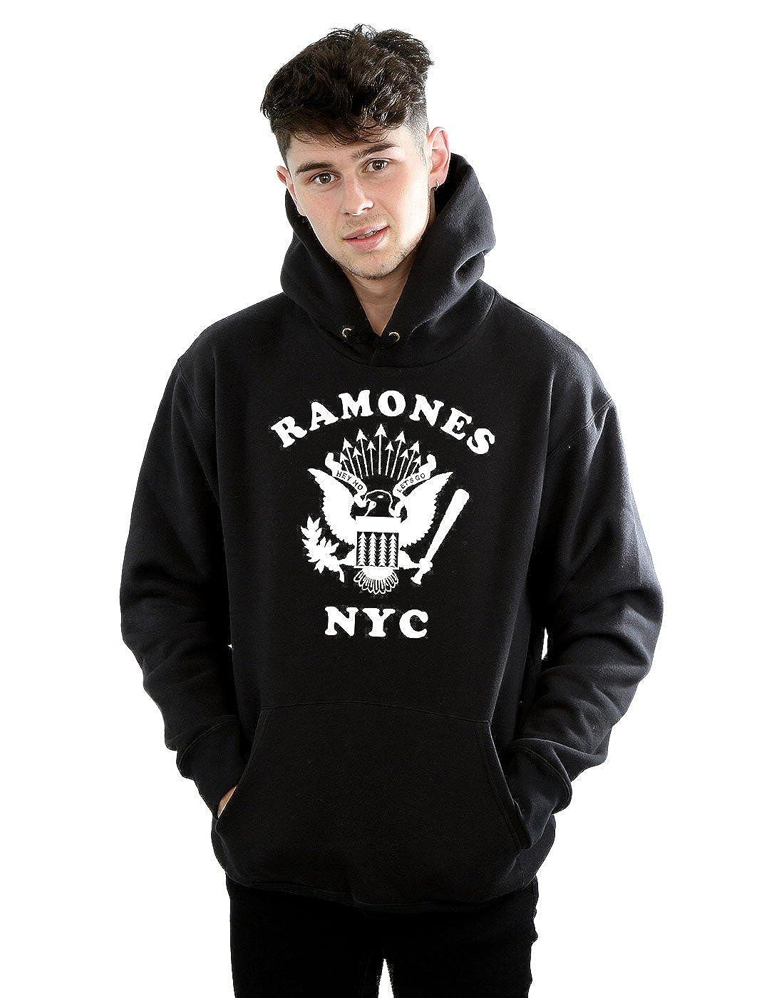 Ramones Herren Retro Eagle NYC Kapuzenpullover
