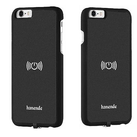 hanende Kit de Cargador Inalámbrico para iPhone 6 Plus / 6S Plus, Qi Carga inalámbrica Pad y Receptor inalámbrico para iPhone 6 Plus / 6S Plus (Negro)
