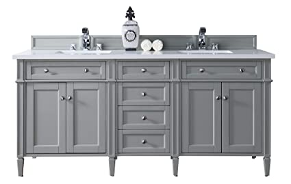 Double Vanity With 3 Cm Snow White Quartz Top Amazon Com