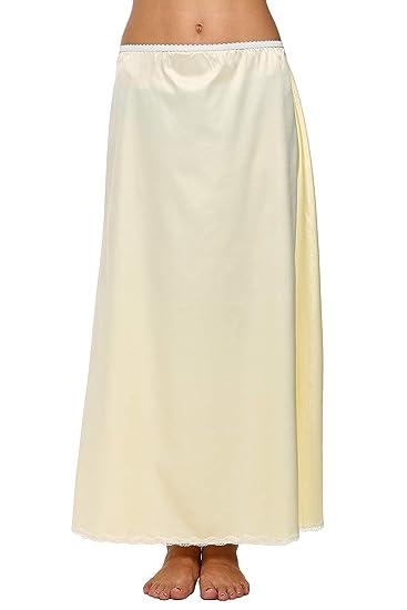 d1874988d8db3 Amazon.com: Nessere Womens Long Half Slip Satin Elastic Waist ...