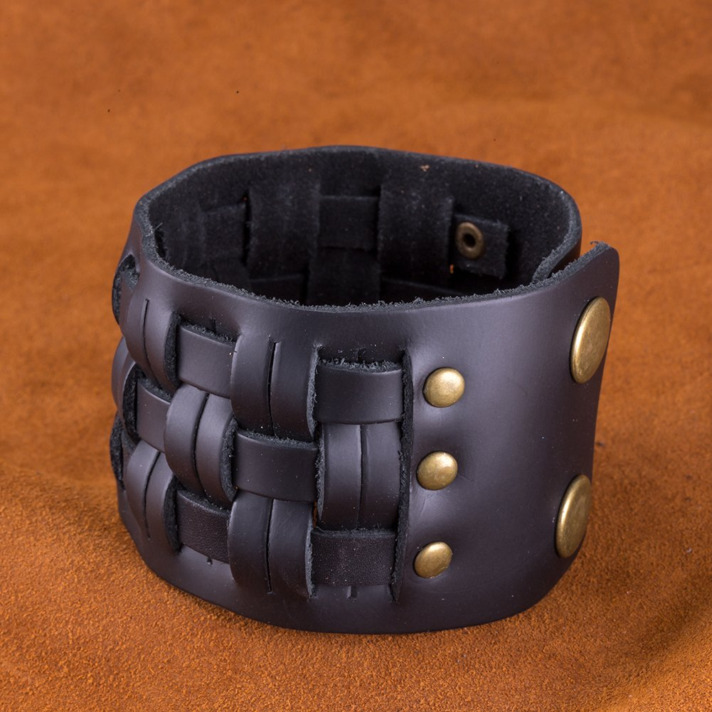 Star Jewelry Stunning Brown Gipsy Style Cuff Leather Bracelet Wristband Bangle Fashion?