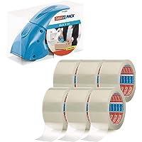 tesa Pack afroller Pack' n' Go - Ergonomische, blauwe handdispenser voor pakketbanden - Inclusief 50 m x 48 mm plakband…