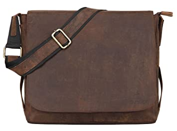 db1f6b081763 Image Unavailable. Image not available for. Color  Leather Laptop Messenger  Bag ...