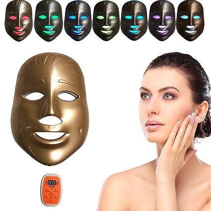 MINCHEDA LED terapia de fotones 7 colores luz tratamiento belleza facial cuidado rejuvenecimiento fototerapia máscara belleza