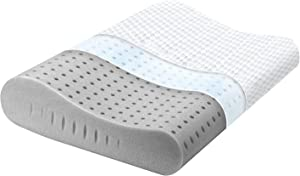 Milemont Memory Foam Pillow, Cervical Pillow for Neck Pain, Orthopedic Contour Pillow Support for Back, Stomach, Side Sleepers, Bamboo Pillow for Sleeping, CertiPUR-US