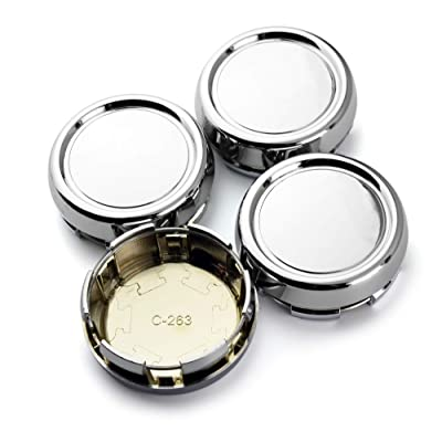 79mm(3.11in)/73mm(2.87in) Wheel Hub Center Caps Set of 4 for Superforgiata RS-D RZ Z-DF RG-D Penta Style Wheel Rims Replace Chrome Silver Base: Automotive