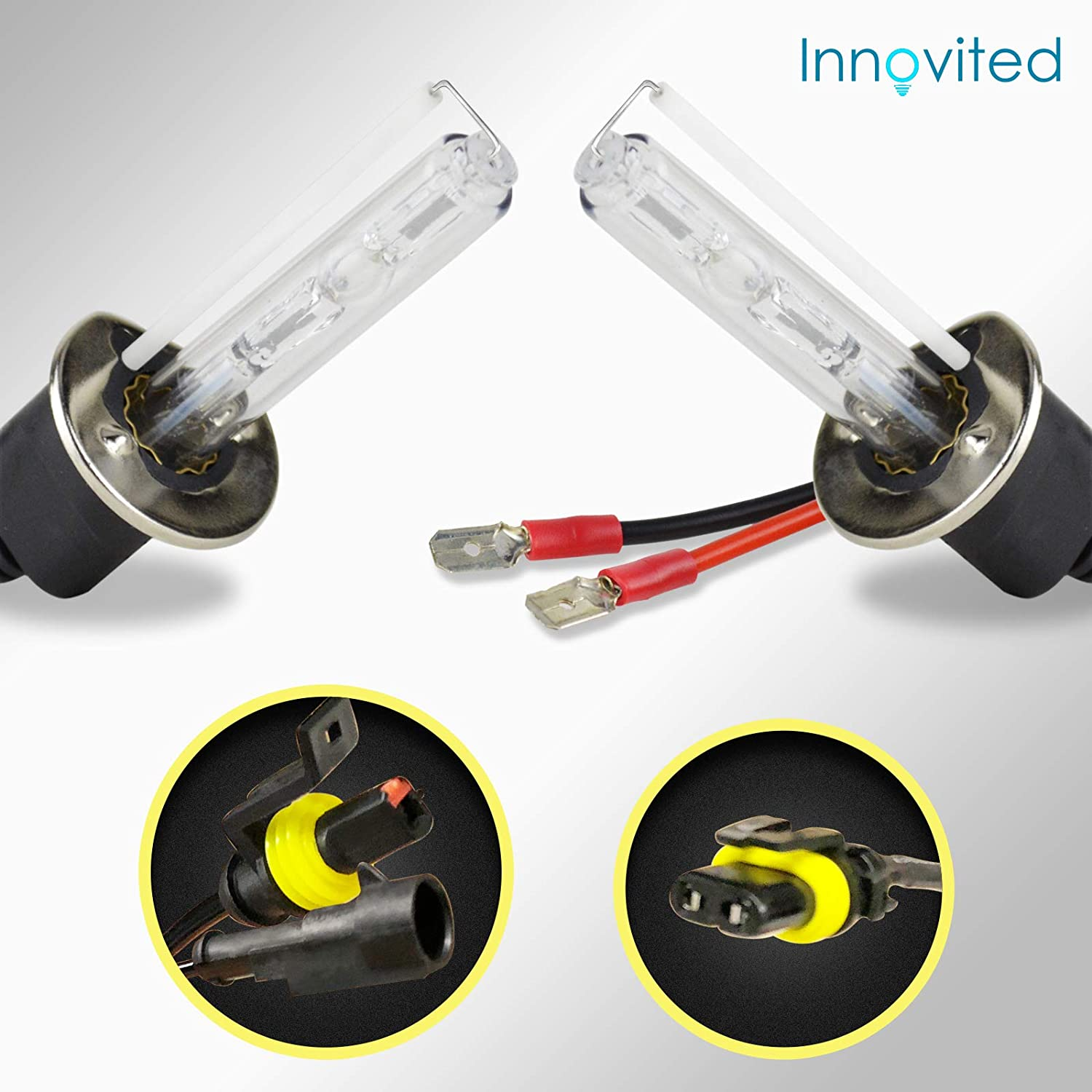 Innovited HID Xenon Replacement Bulbs Lamp H7 5000K