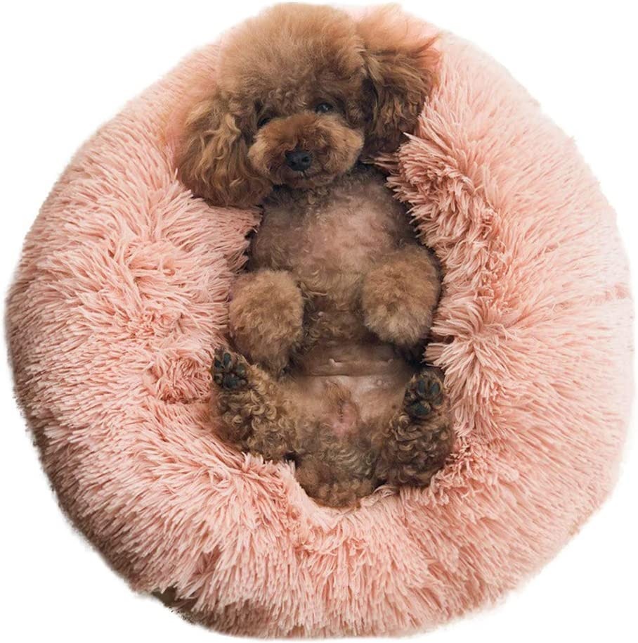 BinetGo Dog Bed Cat Bed Cushion Bed Faux Fur Self-Warming Cat and Dog Bed Cushion Small Medium Large Dog Kennels for Joint-Relief and Improved Sleep - Machine Washable, Waterproof Bottom