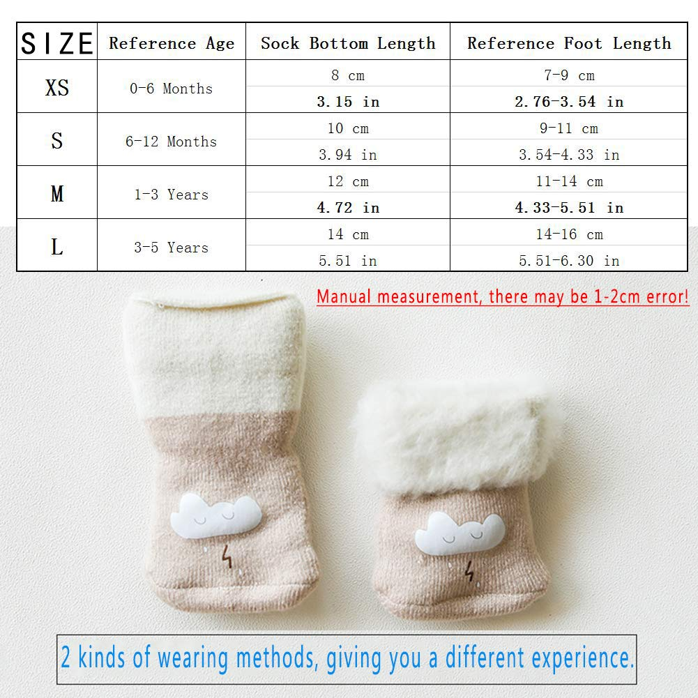 LifeWheel Infant Baby Boys Girls Cartoon Breathable Casual Dress Combed Cotton Socks 0-5 Yers