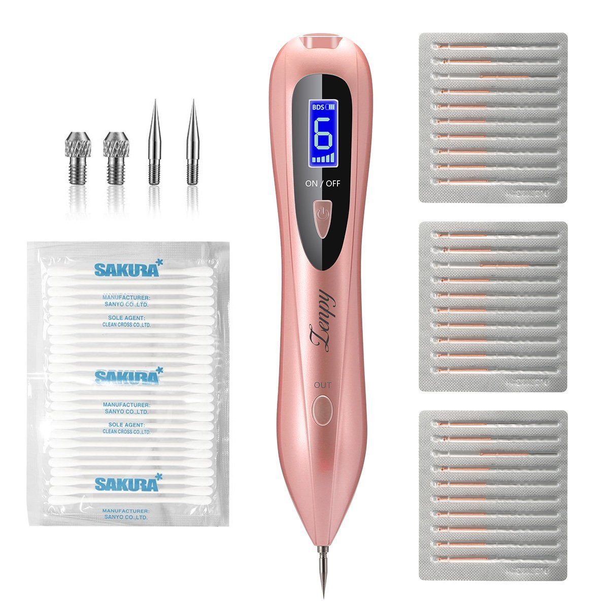 Portable Dark Spot Removal, Professional Tattoo Removel Tool for Skin Tag Freckles Dark Spot Skin Pigmentation with Replaceable Needles SanShi