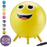 Gaiam Kids Stay-N-Play Children's Balance Ball - Flexible School Chair Active Classroom Desk Alternative Seating | Built…