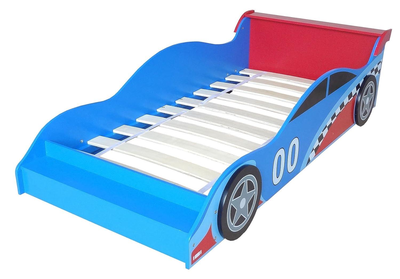Kiddi style autobett & rennwagenbett in blau rot u2013 kinderbett