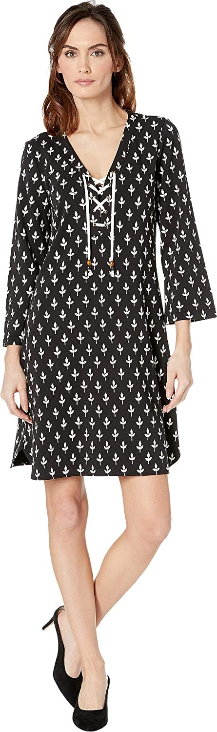 Black Tiny Buds Hatley Womens Dani French Terry Dress