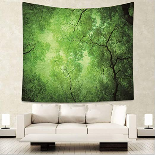 Tapiz de Bosque con Estampado 3D de Noche Estrellada, tapete de Pared Suave y Brillante para decoración de árbol Natural: Amazon.es: Juguetes y juegos