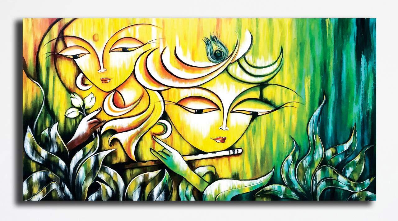 Pixelartz Canvas Painting Radha Krishna Religious Canvas Paintings Paintings For Home Decor Paintings For Drawing Room Wall Paintings For