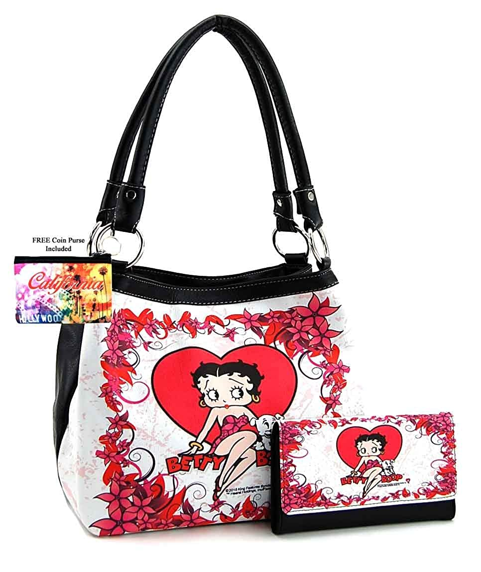 Betty Boop Hearts Key fob Strap or Key Purse or Wallet Strap