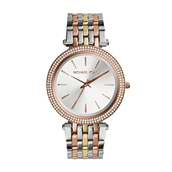 a3dc7e936599 Image Unavailable. Image not available for. Color  Michael Kors Women s  Darci Tri-Tone ...