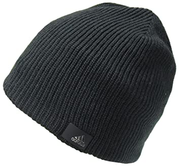Adults Adidas Climaproof Fleece lined Double Knit Warm Black Beanie Hat  M66796  Amazon.co.uk  Sports   Outdoors 42f8f779c