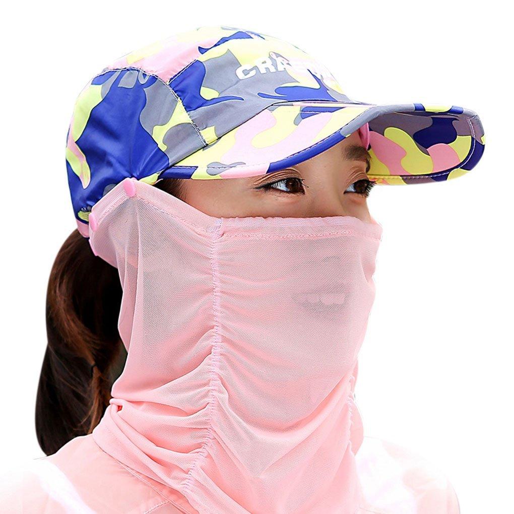 360grados exterior Anti-UV Protección Solar multifuncional plegable sombrero de ala ancha visera des...