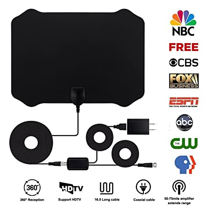 HDTV Antenna For Digital TV Indoor Antenna 1080P TV Antenna 50 to 80 Miles Range Digital