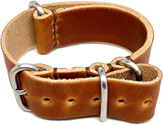 product image for DaLuca Military Watch Strap - Natural Dublin (Matte Buckle) : 20mm