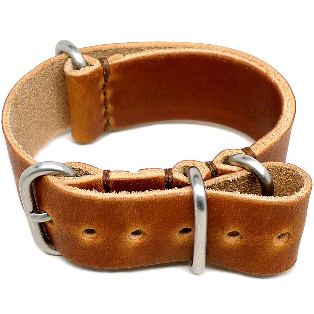 DaLuca Military Watch Strap - Natural Dublin (Matte Buckle) : 24mm