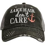 Lake Hair Don't Care Women's Trucker Hat Cap by Katydid