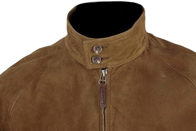 Classyak Men s Fashion-Giacca Bomber da uomo in pelle scamosciata   Amazon.it  Abbigliamento 3e526f207e5