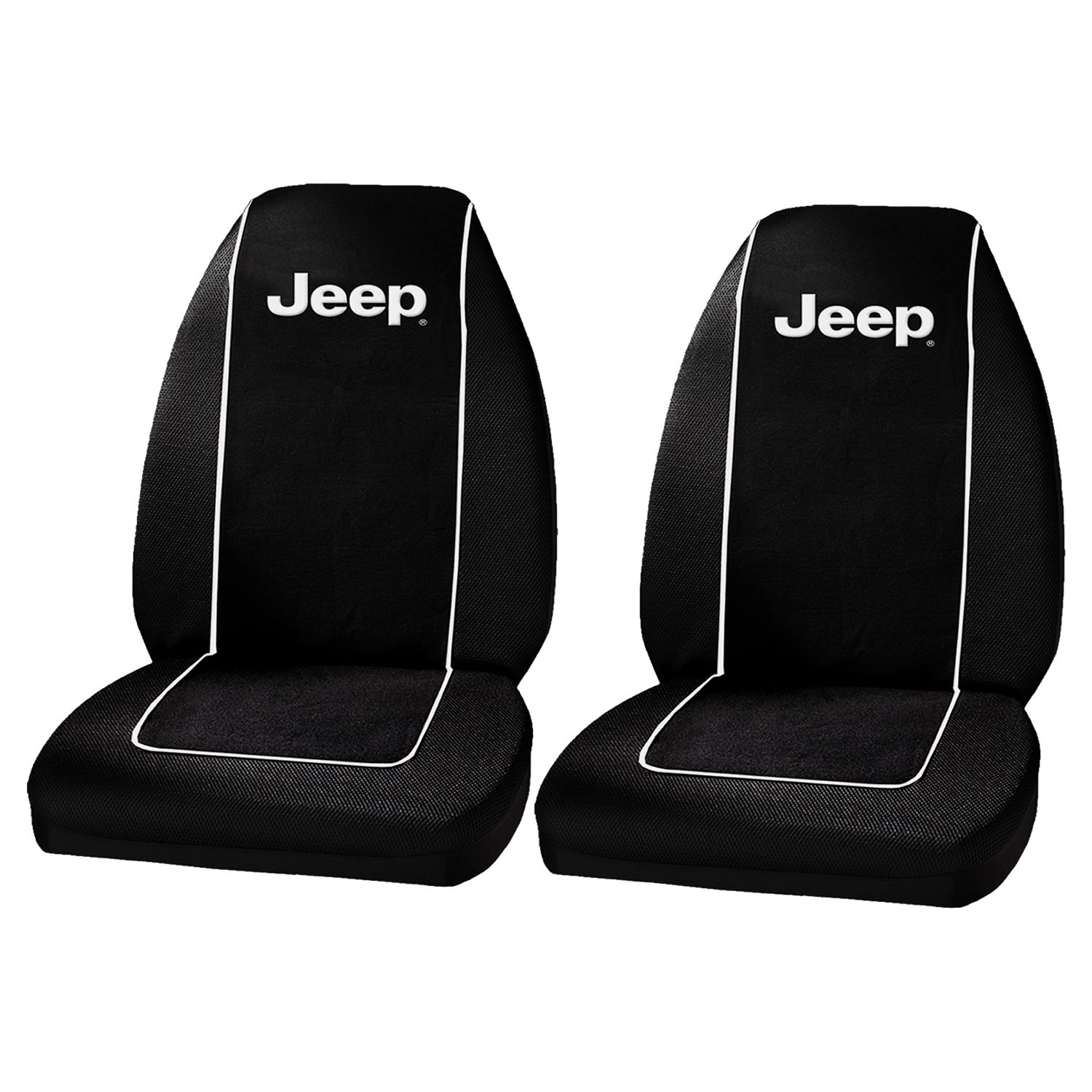 - 2011-2017 Seat Armour Officially Licensed Custom Fit Center Console Cover with Jeep Embroidered Logo for Select Jeep Grand Cherokee Models Black