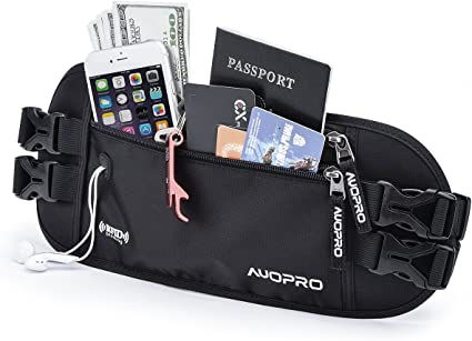 RFID Travel Wallet Passport Holder Security Waist Pouch Hidden Money Belt